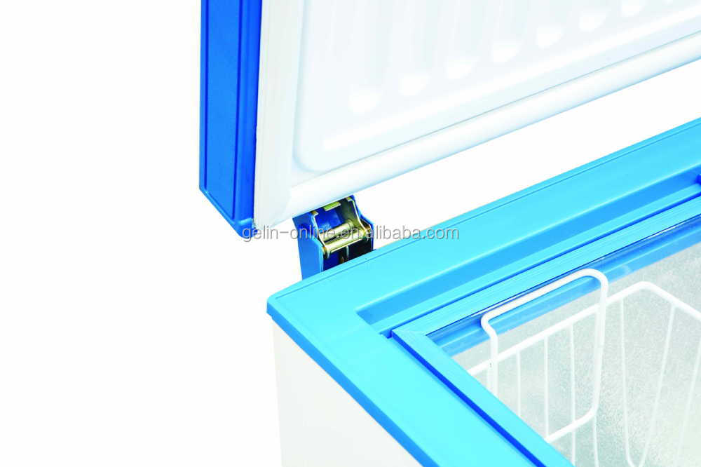 New type single top open door chest freezer 100L