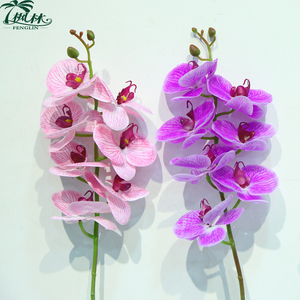7pcs heads orchid flowers real touch artificial orchid flower for wedding decoration