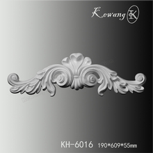 KH-6016 Classic White Polyurethane Shell Centers With Scrolls Onlays