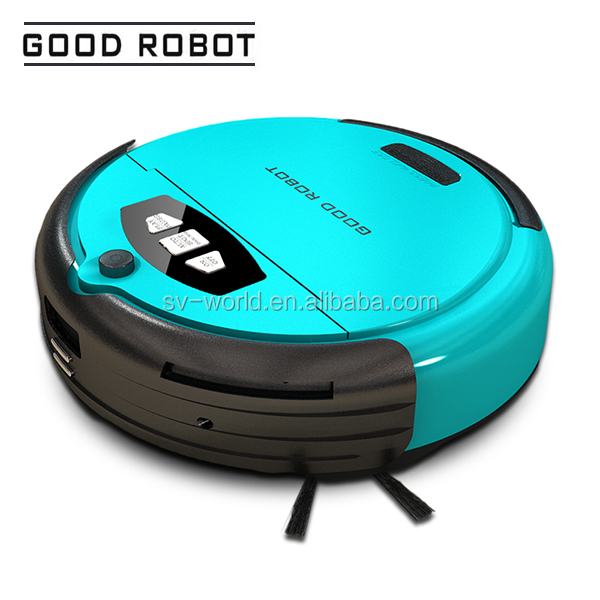 Cheapest blue robotic vacuum cleanr, Low noise home appliance floor vacuum cleaner