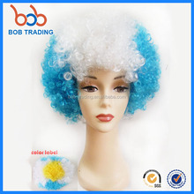 bob trading synthetic hair for wig making afro football fan wig