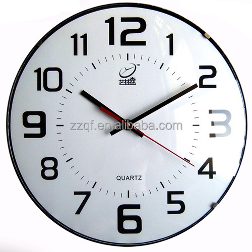 12 inch bubble glass plastic frameless wall clock