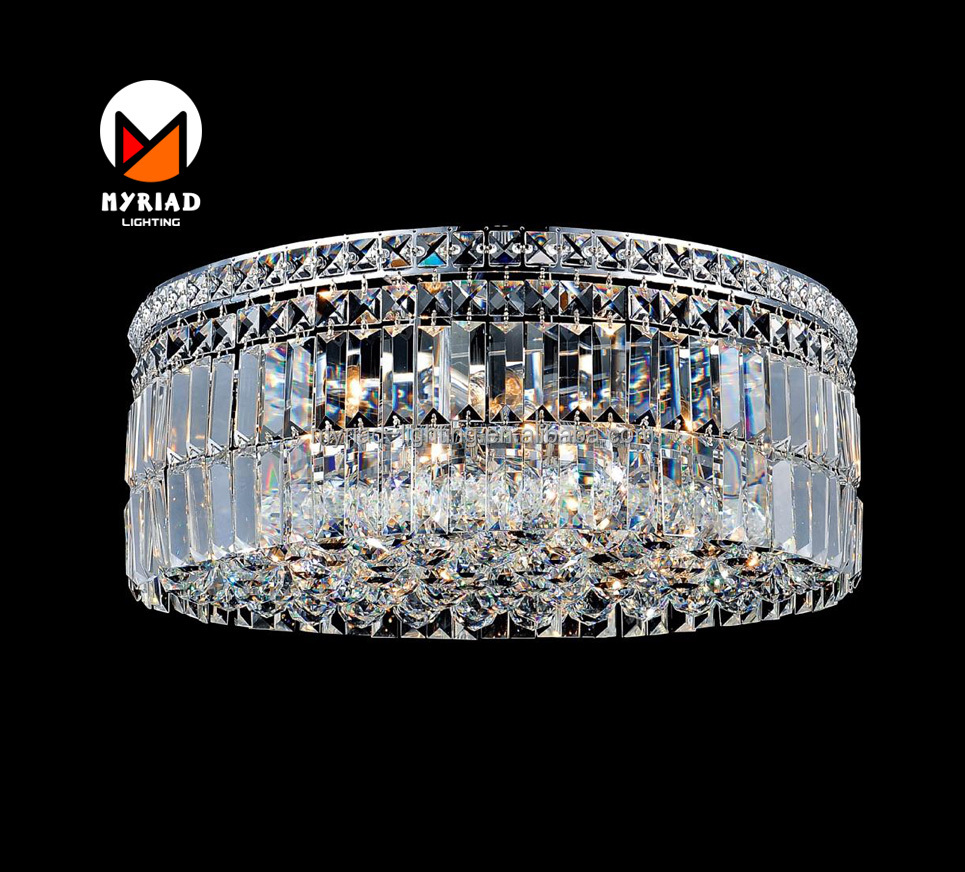 9 Light Round drum Chrome luxary led surfase Flush Mount led deocrative ceiling light lights MY8925C-M