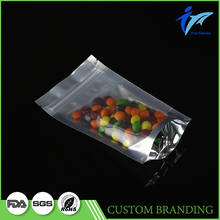 Transparent flat bottom fruit protection bag mango with zipper