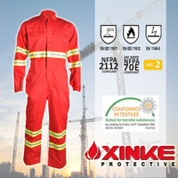 Xinke nomex one piece welder arc flash protection work boiler fire retardant coverall suit