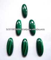 Natural Malachite Oval Cabochon Loose Gemstones