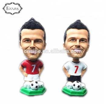 Soccer Player Bobble head Polyresin custom bobblehead doll