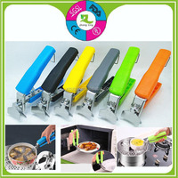 high quality stainless steel anti scald pot clamp kitchen dish tongs