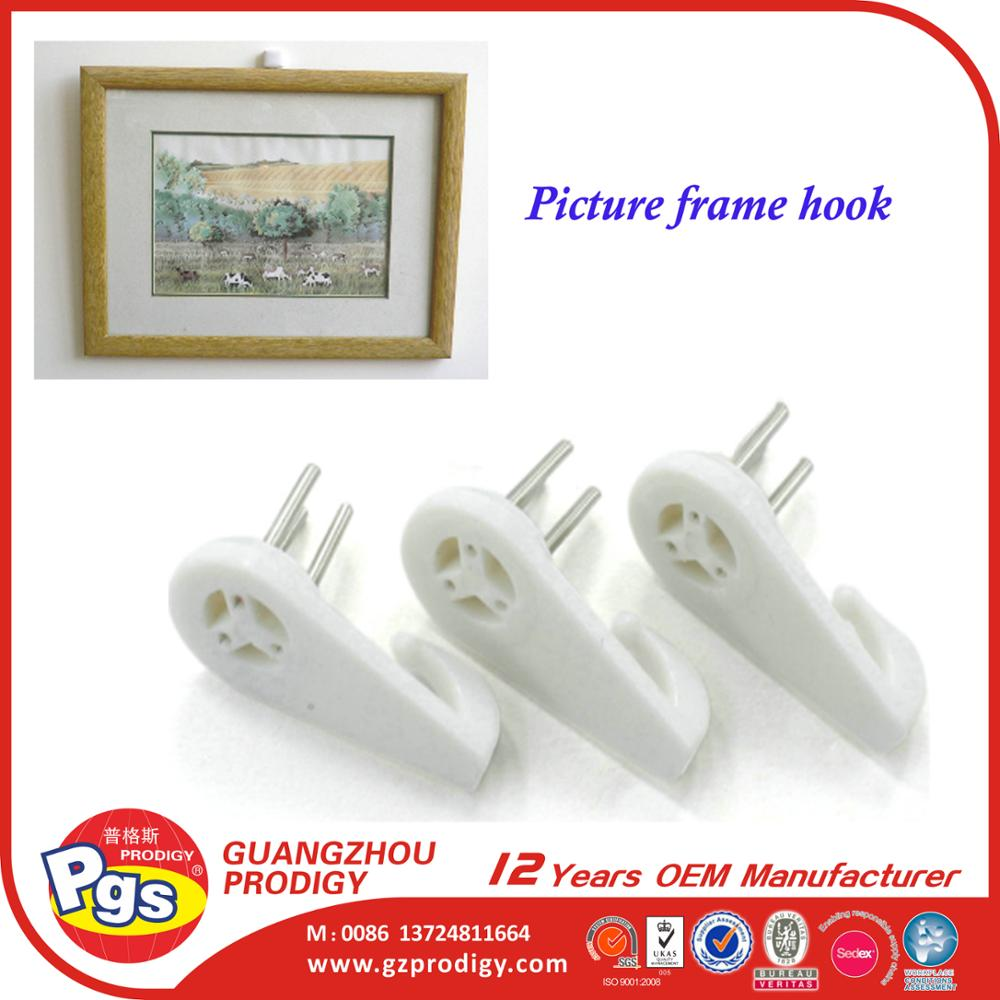 picture frame hanging hooks plastic Handy hardwall nail hook for picture frame