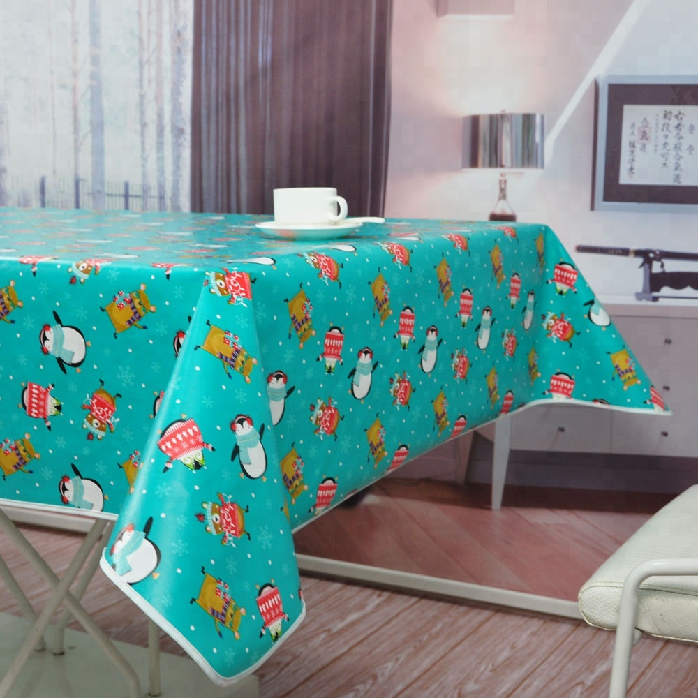 Printed Plastic Table Cloth Pvc Waterproof Table Cover Pvc