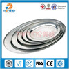 Non-magnetic S/S201 steel oval tray/egg shaped tray/tray for wedding decoration