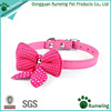 Hot Cute Knit Bowknot Adjustable PU Leather Dog Puppy Pet Collars Necklace