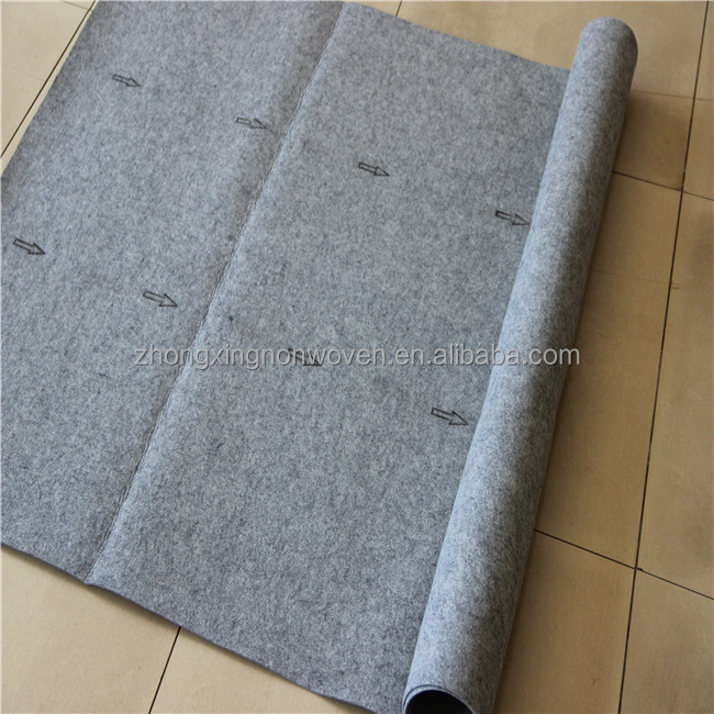 Cheap Price Polyester Raw Material Non-slip Breathable Carpet Underlay