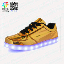 Stylish no heel ankle make light up led light running shoes boots