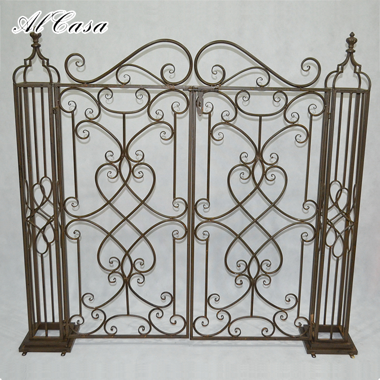 New design high quality garden decoration small iron metal arch gate for boundary wall