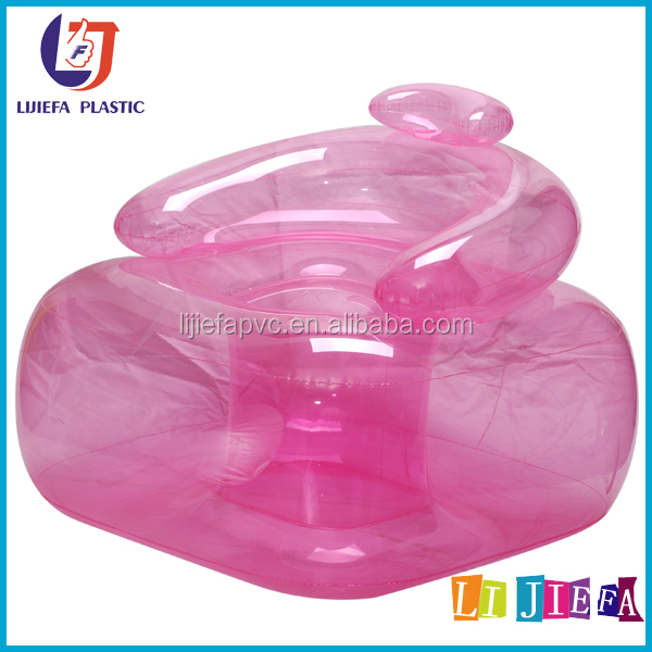 New modern transparent air sofa easy clean pink inflatable sofa