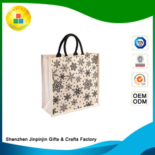 High quaility custom reuasable collapsible natuaral jute bag for shopping
