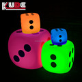 2017 New arrival! LED dice chair automatic color changing cube chair