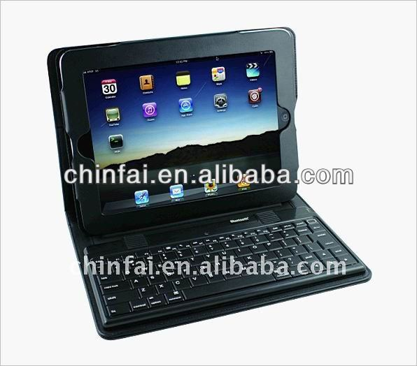 New Genuin for Apple iPad 3 / 2 Leather Bluetooth Wireless Keyboard Case With Stand