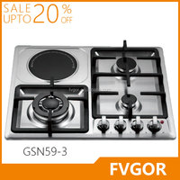 GSN59-3 FVGOR Factory electric 4 burner hob free stand in singapore