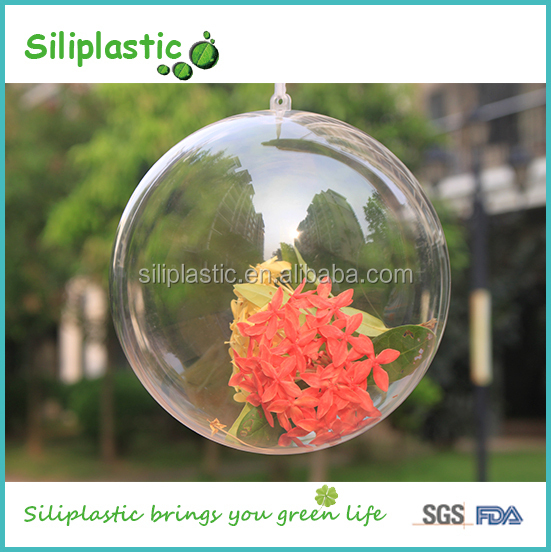 Christmas Ornaments Hanging Transparent Clear Plastic Balls 100mm