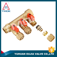 floor heating manifold pump and mixing valve set 3 ways manifold