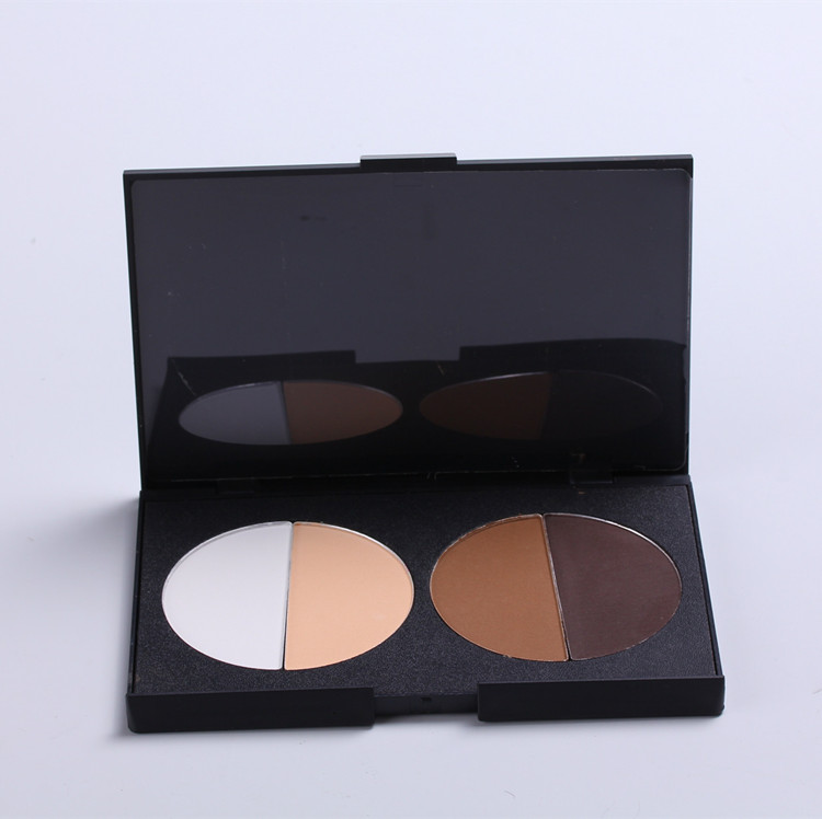 Hot sale makeup powder 4 color silky texture pressed face powder