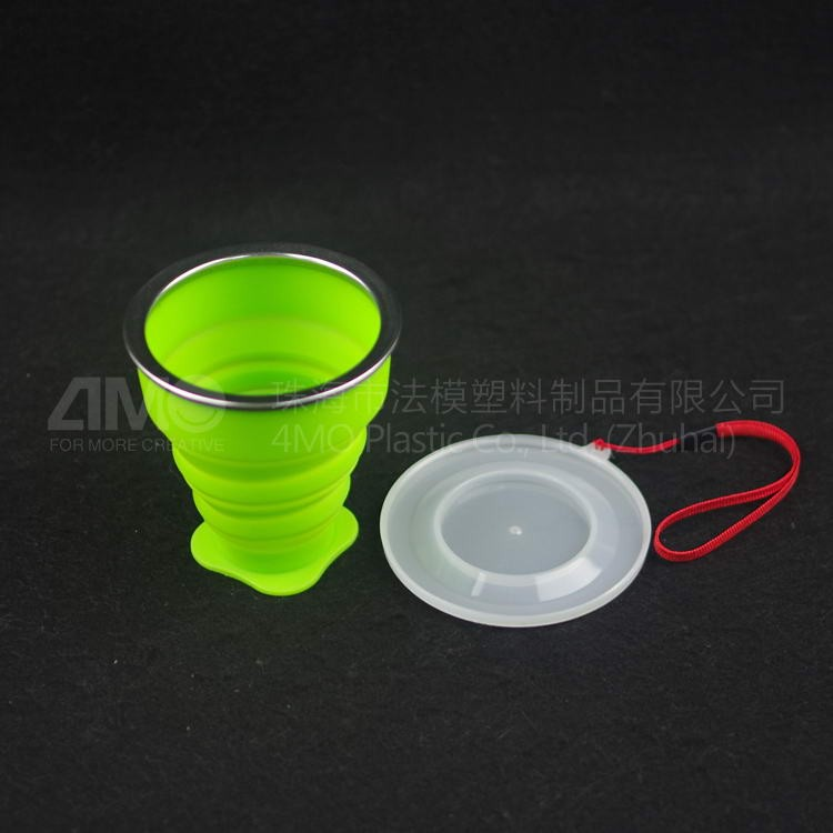 Fashion Design Silicone Foldable Water Bottle/silicone water travel bottle