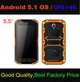 Popular 5.5 inch palm handheld Android 5.1 OS Rugged Smartphone with 4G LTE+GPS handheld systems