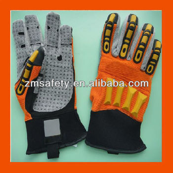 Knuckle Protection Impact Safety Gloves for Oil and Gas Industry