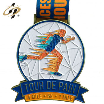 New design cheap zinc alloy enamel custom metal sports medals