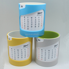 New Design Plastic Pen Holder With Beautiful Pen Calendar