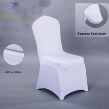 2017 Wholesale New Design Wedding Chair Cloth Customized Banquet White Cheap Universal Spandex Chair Cover Cloth