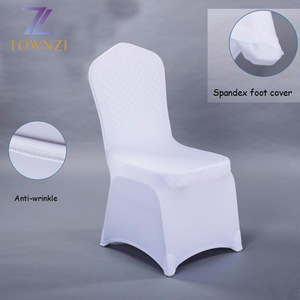 2018 Wholesale New Design Wedding Chair Cloth Customized Banquet White Cheap Universal Spandex Chair Cover Cloth