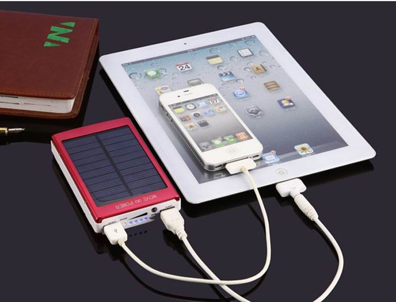 New full capacity Solar Power Bank,10000mAh Solar Charger for mobile phones/tablet PC
