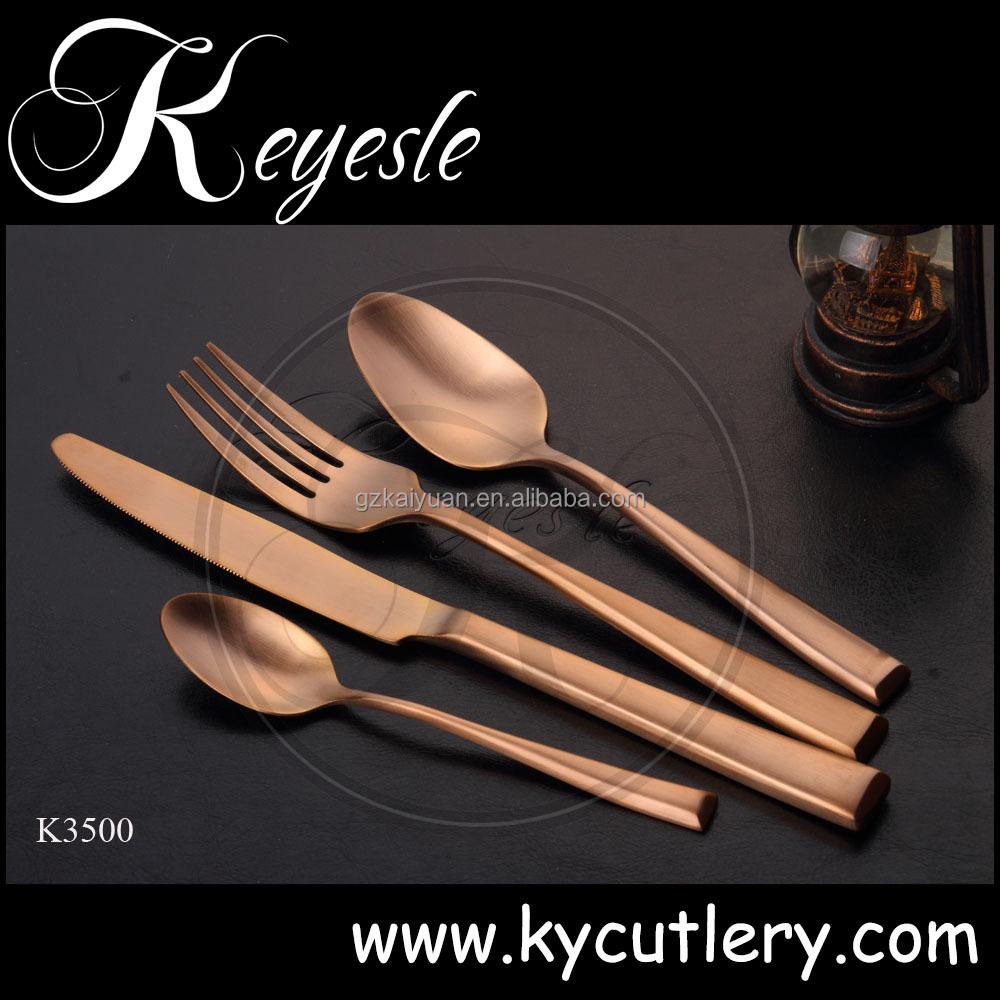 Copper Pattern Flatware Cutlery Set Stainless Steel