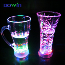 Colorful party used flashing LED light beer cup for events