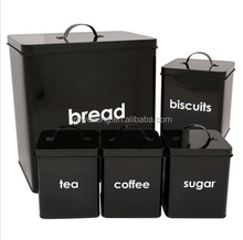 bread bin biscuit tea coffee sugar canister set