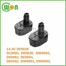 14.4V battery ni-mh DC9091 DE9038 DW9094 DE9092 DE9094 DE9502 DW9091 DW9094 battery for dewalt DC551KA DC528(FlashLight)