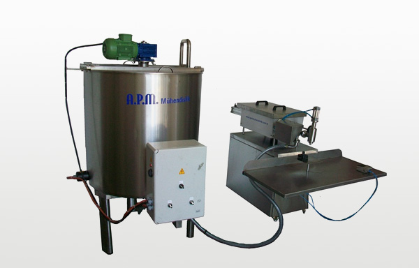 FILLING MACHINE MANUAL SYSTEM AND MARMALADE with mixer - BALANCE TANK HEATER