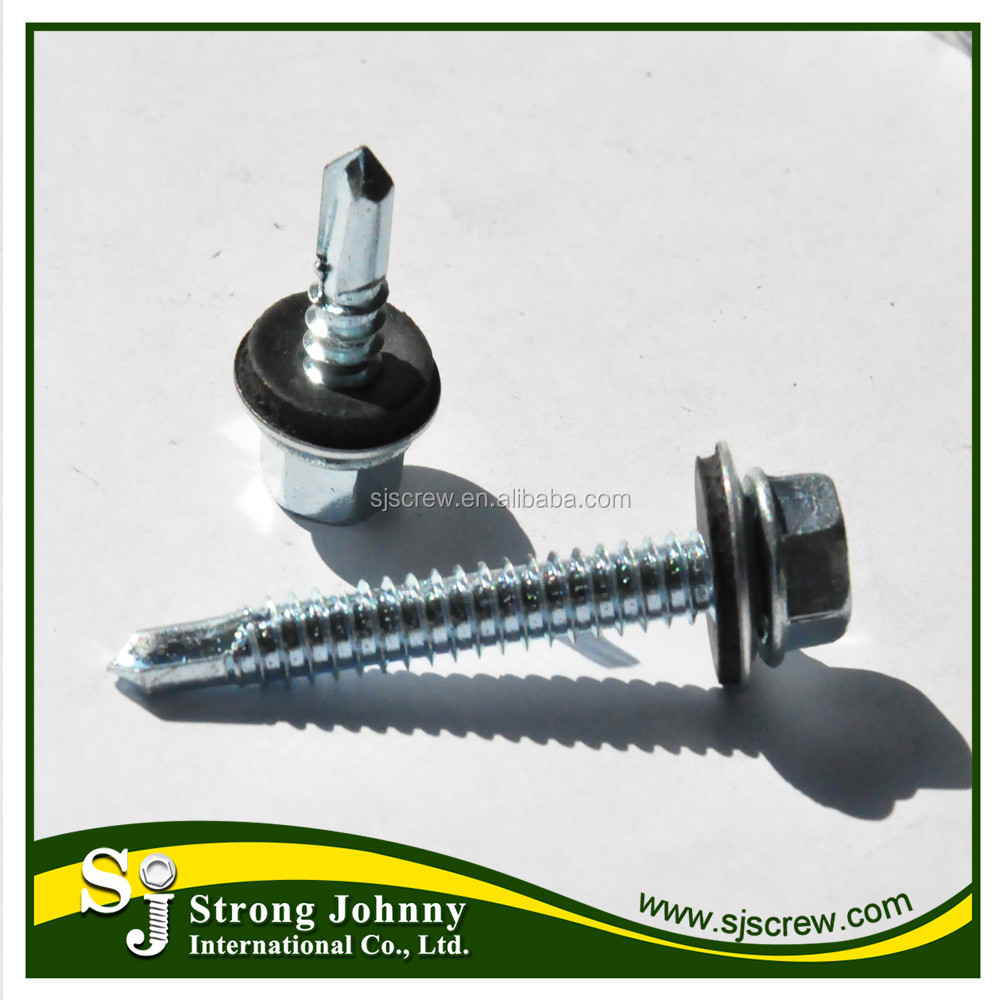 Taiwan products wholesale metal roof fixing screws 75mm