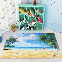 Kids Rug 3D Digital Printed Decorative Baby Soft Protective Sea Beach Floor Carpet For Living Room