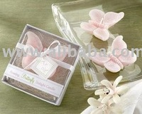 Wedding Favors - Pink Butterfly Candle