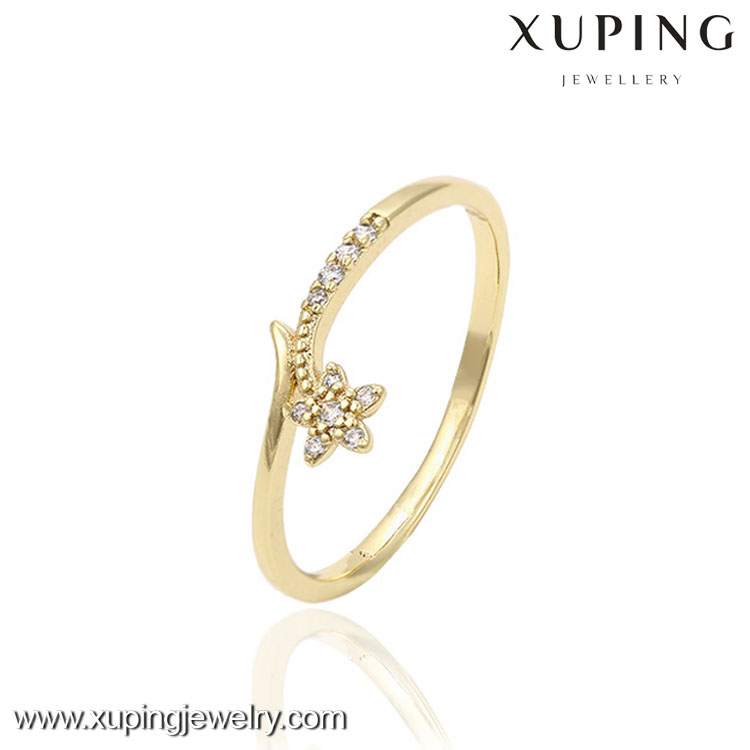 13387-xuping fashion jewelry 14k gold latest gold rings design for women
