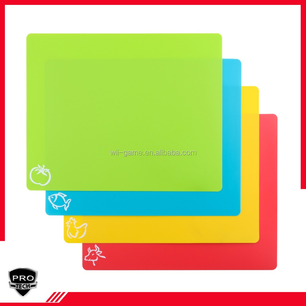 Custom Kitchen Plastic Flexible Cutting Board Set, Plastic Chopping Board Cutting Mats
