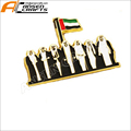 2018 hot selling Wholesale metal UAE national emblem flag souvenir badge