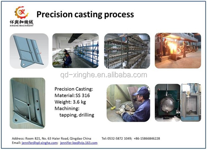 carbon stainless steel precision waterglass silica sol investment casting