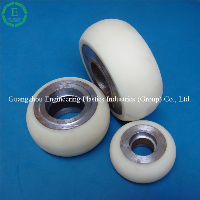 High strength and stiffness PA contact roller nylon trolley wheel