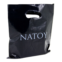 cheap printing advertising Factory raw material ldpe/hdpe custom black shopping plastic bag manufacture in china