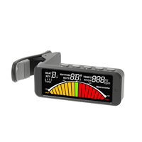 Factory Wholesale sale tuner for guitar digital Big color screen guitar tuner clip on
